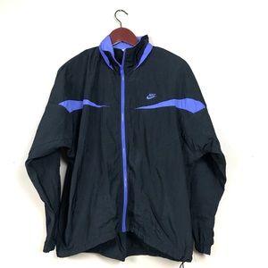 Vintage Nike black and purple windbreaker jacket